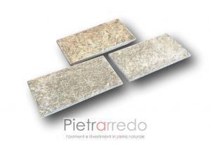rivestimento e zoccolino in pietra luserna 15cm 31cm rettangolare piastrelle prezzo