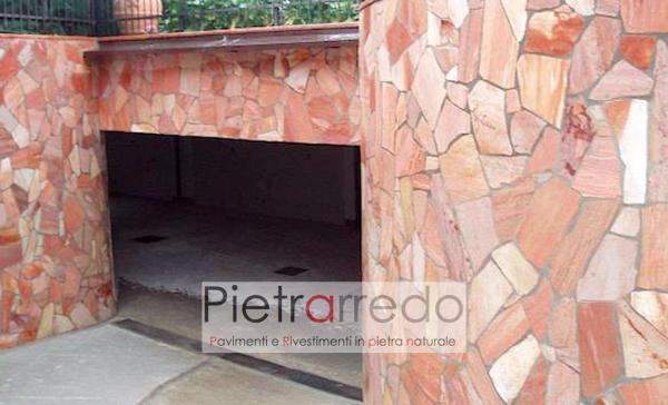 rivestimento in quarzite rosa brasiliana offerta mq pavimento rivestimento