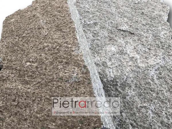 stock magazzino pavimento beola grigia pietra mosaico opus incertum latre a spacco naturale prezzo