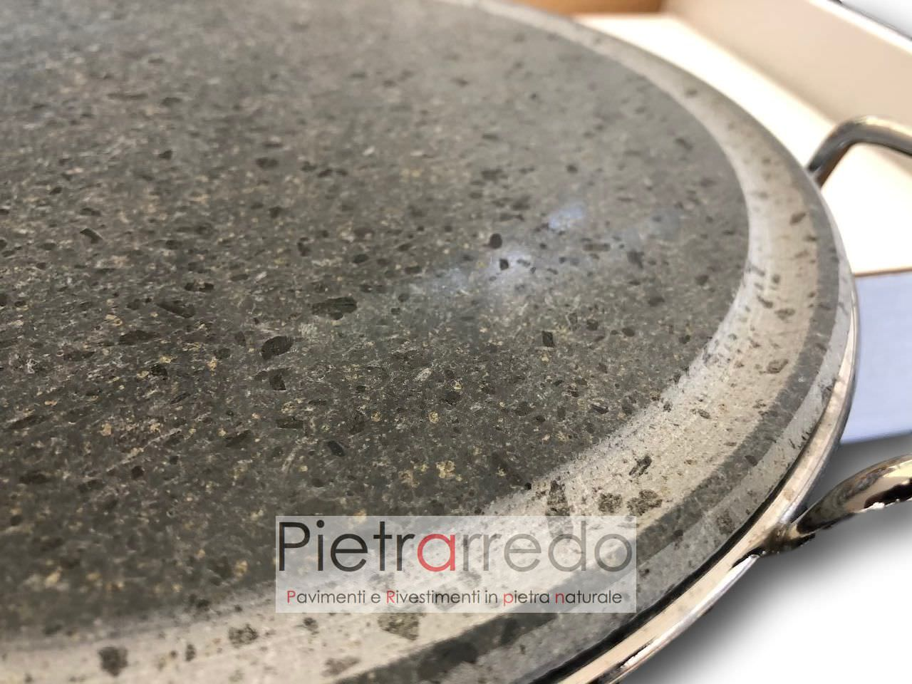 costo pentola lastra piastra in pietra ollare cucina sana offerta tonda bbq barbeque pietrarredo milano