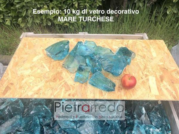 costo vetro decorativo azzuro mare turchese zandobbio granulati offerta costi pietrarredo