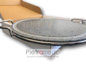 elegante pentola piastra in pietra lavica ollare da cottura verdure carne pesce offerta prezzi