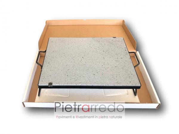 offerta pietra lavica per cottura bbq da camino con telaio prezzo pietrarredo milano