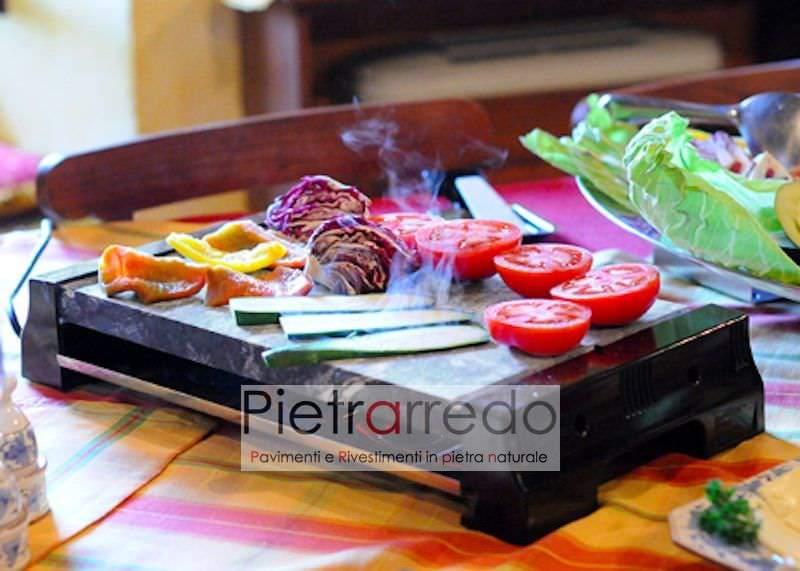 offerte lastre e pietre in pietra vera ollare lavica per cucinare bbq prezzo costi su fuoco carbonella