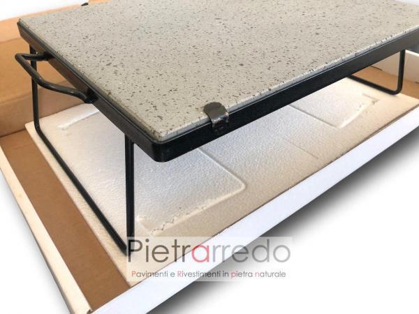 pietra con telaio cottura lavica ollare pietrarredo milano bbq offerta senza grasso dietetico