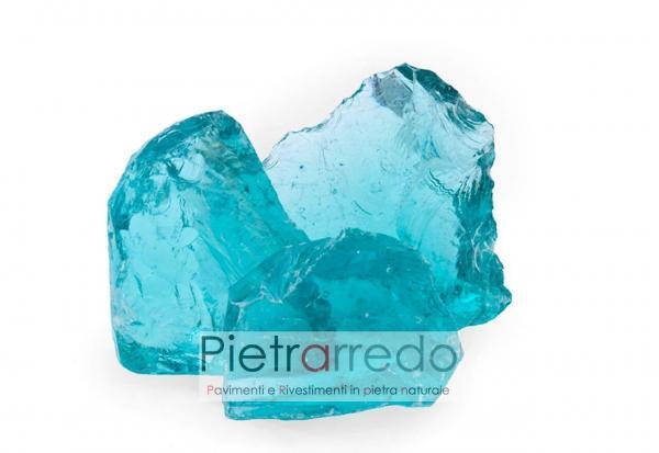 vetro decorativo a spacco rotto prezzo zandobbio mare azzurro turchese offerta prezzo