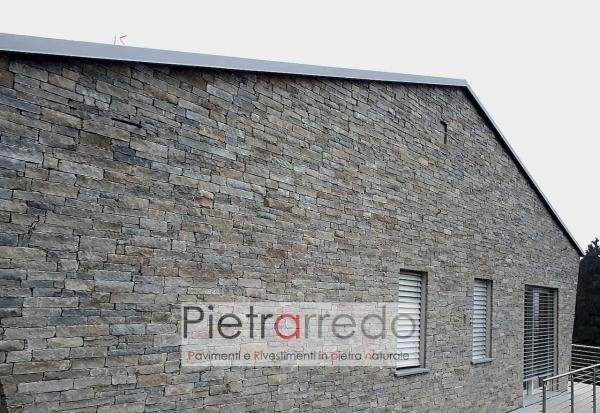 Facciata in pietra luserna bloccheti da muro tranciati segati prezzi costi pietrarredo milano adda luxury
