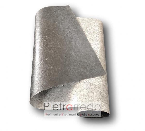 Foglio flexstone silver shine offerta costi flexibile stone veener sale price