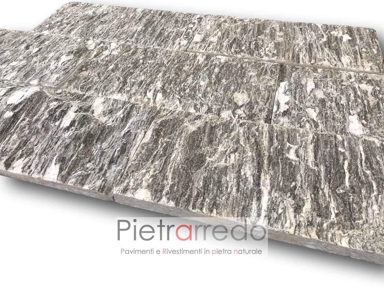 beola striata spaccatello rivestimento pietra ghiandontata domodossola prezzo costi spaccato lati segati