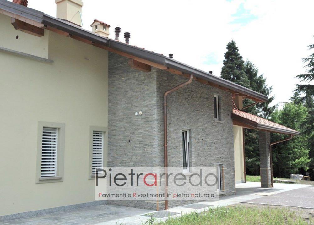 costo mq rivestimento facciata in pietravera luserna adda luxury segata tranciata bloccheti facciata pietrarredo milano