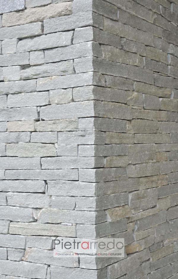costo muro a secco semisecco pietra luserna blocchetti tranciati a visto pietrarredo milano 6 8 cm costo