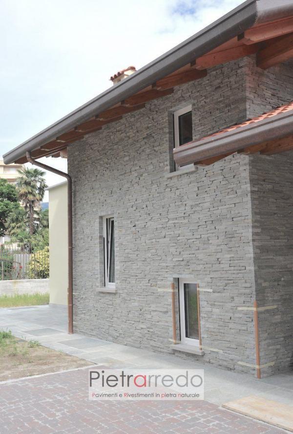 costo muro facciata parete in pietra luserna rivestimento tranciato bloccheti retrosegati adda verapietra schenatti