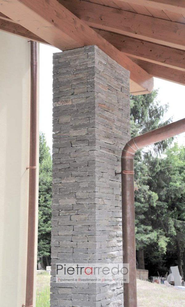 costo spigoli e angoli per pilatro colonna in pietra luserna pietravera chenetti adda luxury morina pietrarredo