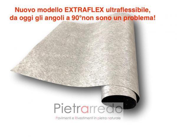 foglio flessibile radica silver stone veener prezzo offerta costi, pietra mobili sottile pietrarredo