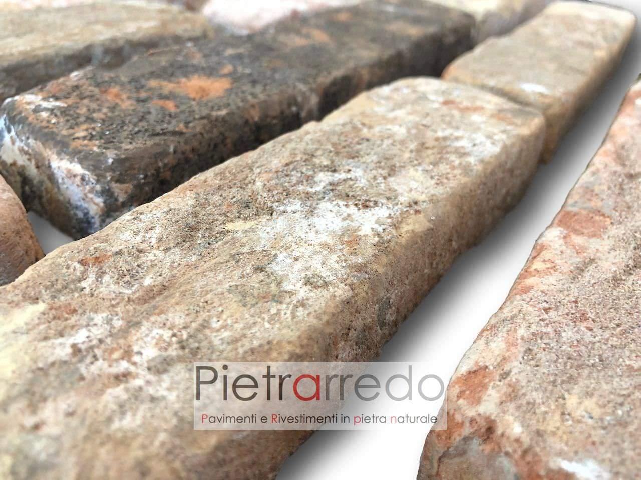 listello in mattone cotto antico vecchie mura antiche cascina rustico pietrarredo costo prezzo