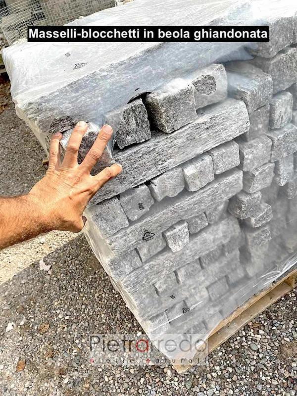 masselli blocchetti binderi da muro in beola ghiandonata prezzo ghiandone pietrarredo milano 6 8 cm