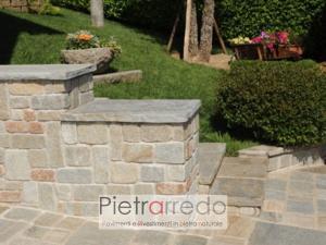 muretto in pietra luserna rivestito anticato prezzo placchette da parete pietrarredo pietra