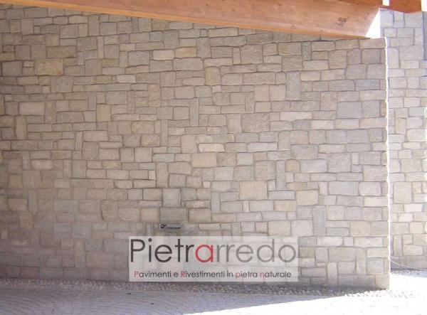 muro in pietra luserna incollata parete facciata liste anticate adda schenatti prezzo costi