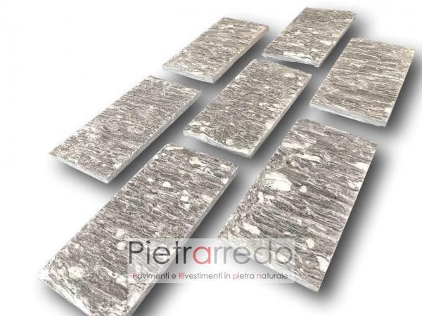 offerta rivestimento in beola bianca ghiandonata striata pelganta prezzo costi mq 15 cm x 31 cm