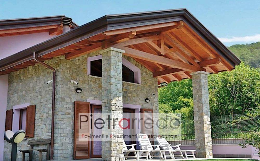 offerte e prezzi rivestimento in pietra luserna retrosegata anticata adda offerte costi pietrarredo muri e facciate