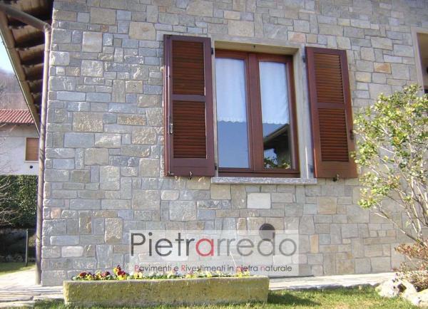 parete e facciata in pietra luserna bloccheti tranciati anticati segati prezzo adda costi