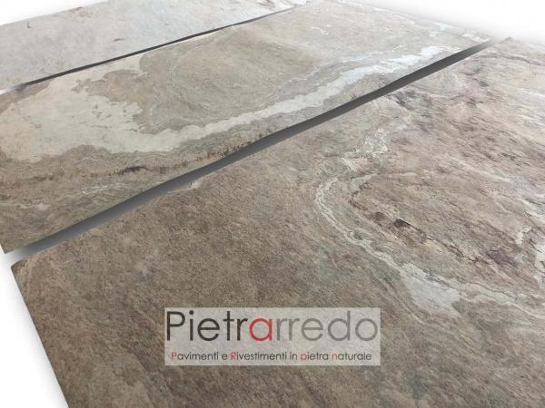 pietra 2 mm sottile flessibile tan beige marrone veneer price sale pietrarredo milano