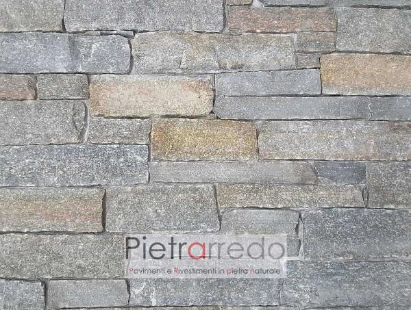 prezzo muro a secco in pietra luserna facciata parete oferta verapietra adda morina pietrarredo