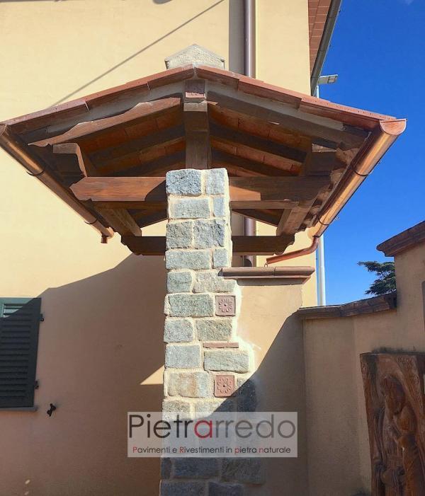 rivestimento in pietra per pilastri grigia luserna pietrarredo milano stone price