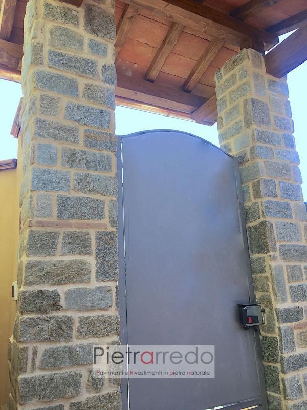 rivestimento pilastre in luserna anticata pietrarredo milano costi angoli sasso
