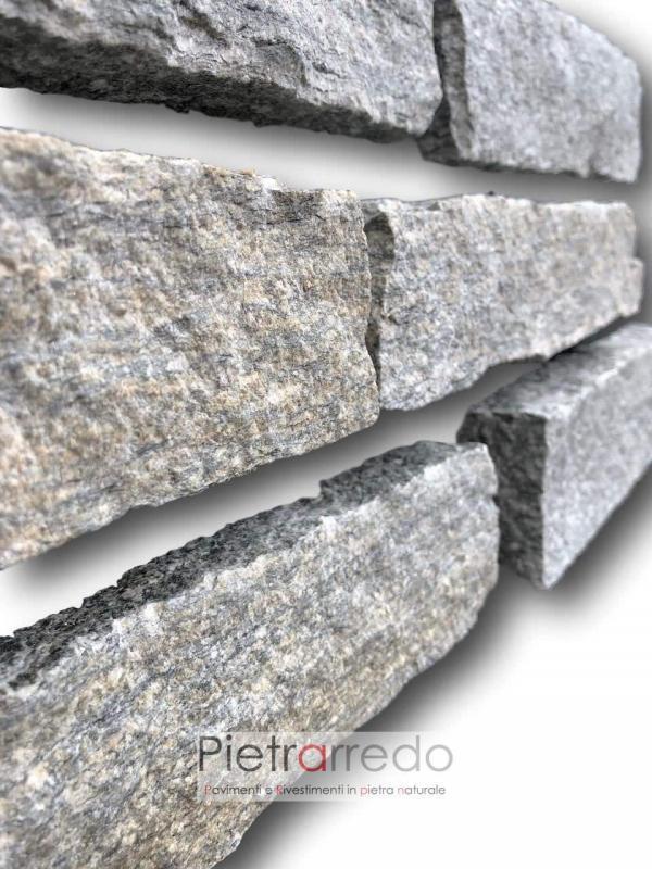 scaglie di pietra per muri e facciate in pietra luserna colore misto segata tranciata incollare prezzo