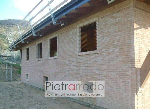 facciata casa in mattoni segati basso spessore offerta e prezzo sabbiato rosato misto segato costi pietrarredo san marco fornace