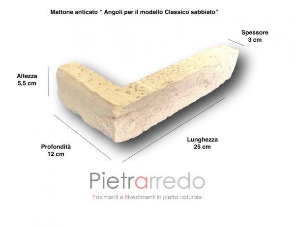 listello a l e angolari per pilastri spigoli mattone in cotto anticato classico deutto prezzo sabbiato offerta