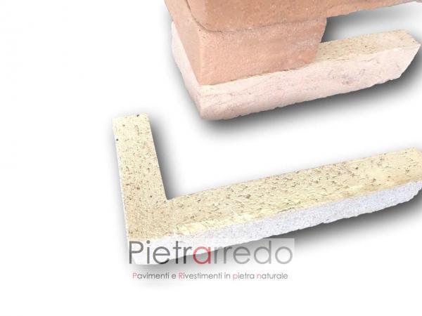 listello a l in cotto mattone classico anticato spigoli angoli pilastri archi rivestimento pareti facciate costo pietrarredo