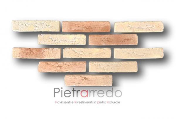 listello mattone in cotto anticato rivestimenti sabbiato rosato duetto san marco prezzi offerte retrosegato offerte fornace
