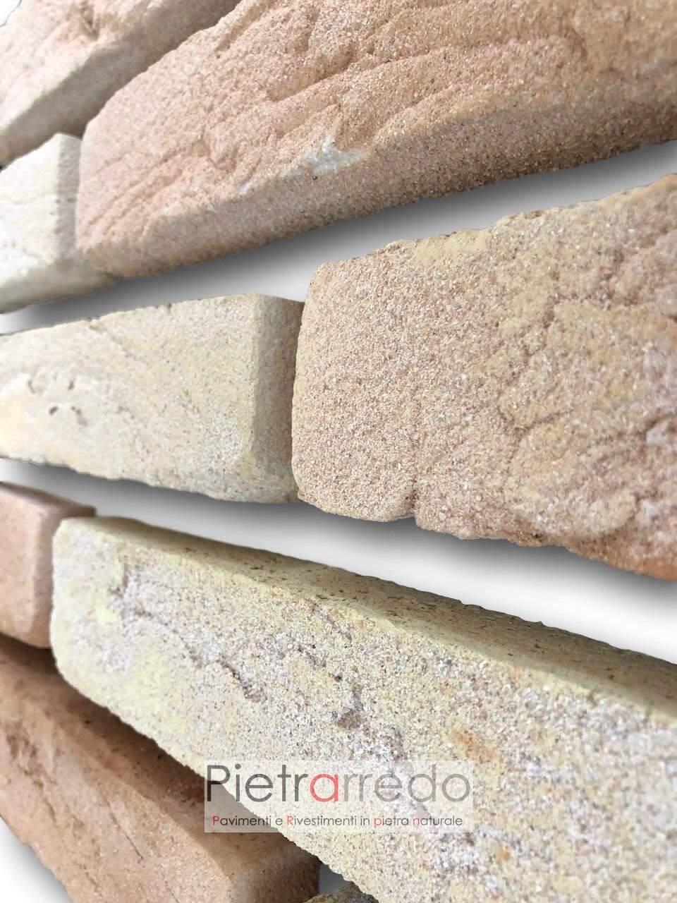 mattone antico sabbiato dorato beige rosato offerta costi poco spessore incollare duetto san marco prezzi terreal paramano