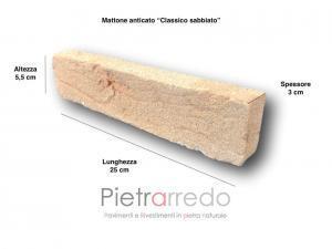mattone invecchiato rivestimento anticato classico sabbiato listello geo terreal paramano pietrarredo basso spessore prezzo costi facciate e pareti interne esterne