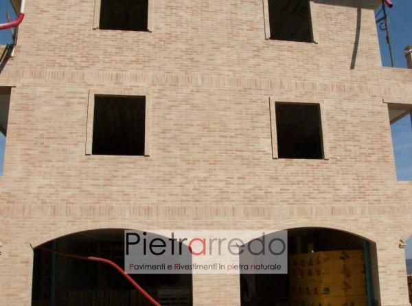 mattoni per facciate rivestimento paramano offerte anticati sabbiati vecchi colore rosato beige dueto prezzo mq costo