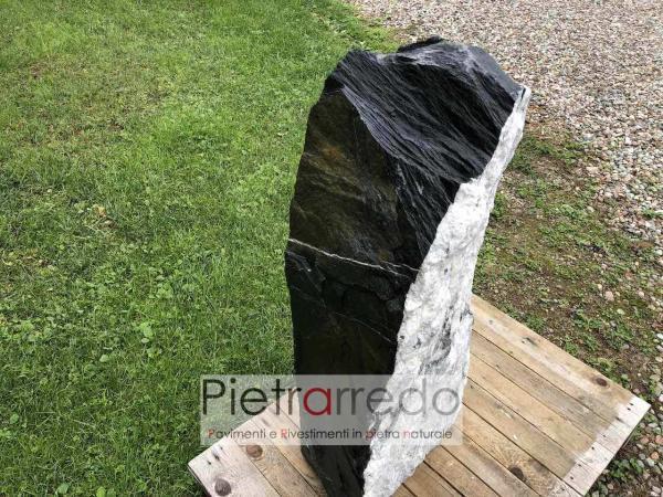 offerta monolite punte ardesia nera prezzo arredogiardino zen granulati zandobbio offerta pietrarredo milano