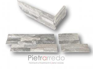offerte spigoli angolari pietra per parete quarzite ghiaccio cladding stone cloudy grey price sale glitter grigo