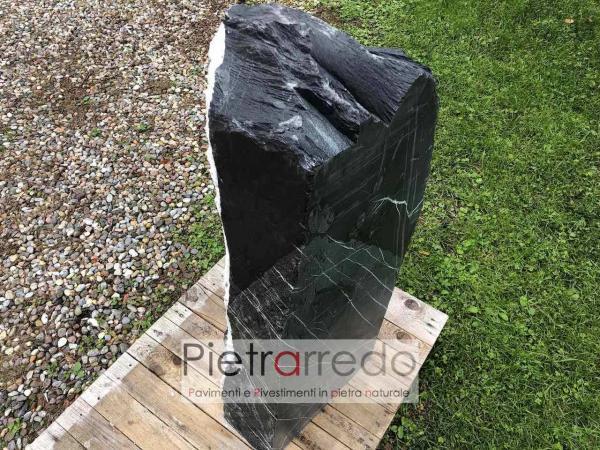 pietra ornamentale da giardino monoliti punte blocchi ardesia sasso prezzo costo