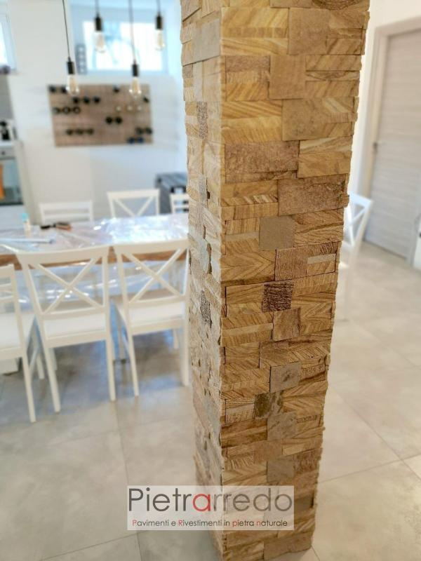 rivestimento colonna in pietra arenaria scozzese pietrarredo milano costo offerta