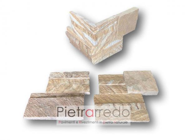 spigoli e angoli per parete rivestimento sasso pietra arenaria scozzese pietrarredo costo stone panel offerte