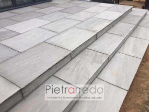 Offerte e prezzo pavimento scala arenaria indiana kandla grey autumn pietrarredo milano costi