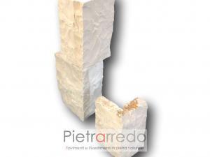 angolari e spigoli parete roccia muro a secco prezzo costo mq pietrarredo costa azzurra bianca chiara facciata