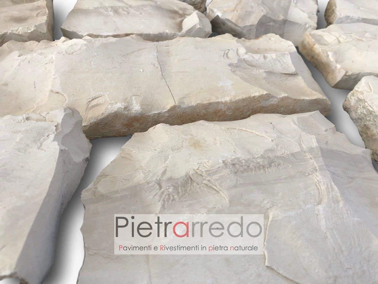 offerta e costo parete in sasso e pietra bianca a spacco segata naturale costa azzura prezzo