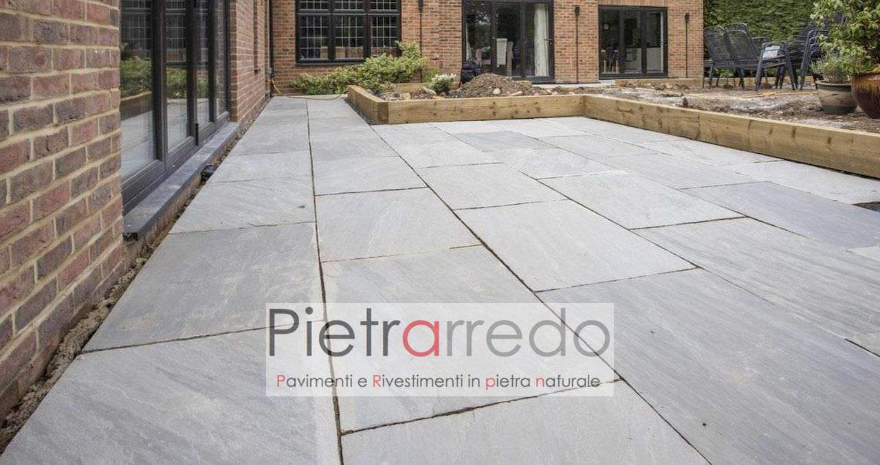 pietra arenaria indiana autumn grey sandstone grigio zandobbio prezzo costi