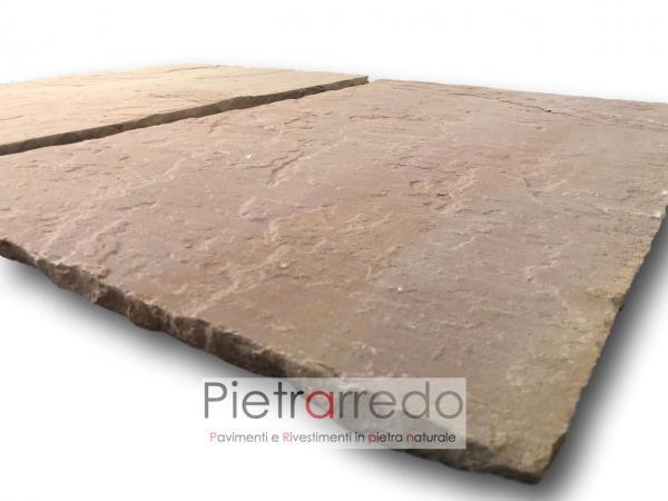 Pietra per pavimenti modak pink indiamn india prezzo calibrato 22 mm pietrarredo milano