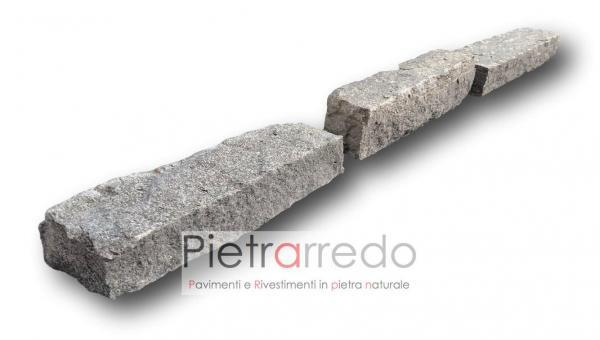 bloccheti da muro per aiuole in beola svizzera vallemaggia pietra liste blocco muro pietrarredo milano