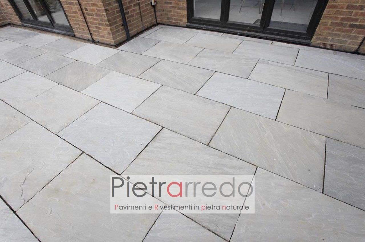 costo paving pavimento kandla grey autumn arenaria grigia sandstone price pietrarredo milano