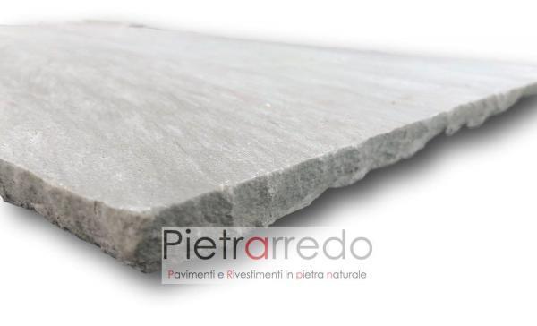 lastra in pietra autumn grey zandobbio granulati prezzo costi offerta paviento pietrarredo milano morina